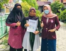Tim KKN Universitas Abdurrab Lakukan Sosialisasi Penanganan Covid-19 di Payung Sekaki