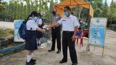 Polsek Bagan Sinembah Ajak Sekolah Patuhi Prokes di Pembelajaran Tatap Muka